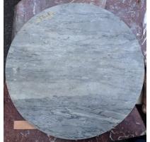 Tee-esstisch rund-marmor-blau