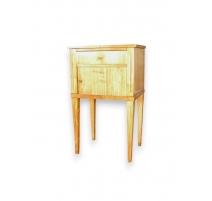 Chevet Directoire à rideau et un tiroir