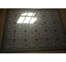 Teppich im petit point-blau und dekor