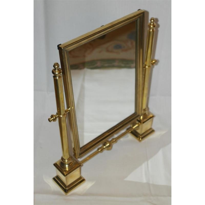 miroir de table en laiton poli sur moinat sa antiquit s d coration. Black Bedroom Furniture Sets. Home Design Ideas