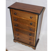 Small wardrobe miniature 6 drawer
