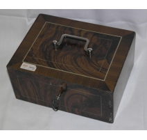 Safety deposit box, iron painted wood effect,