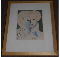 """Dessin couleur """"Portrait de femme""""par VILATO"""