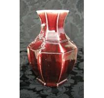Vase couleur Sang de Boeuf.