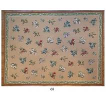 Tapis Aubusson motif à fleurs, dessin 68