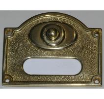 Plaque-sonnette rectangulaire, en laiton