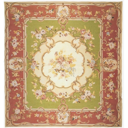Tapis Aubusson style Louis Philippe,