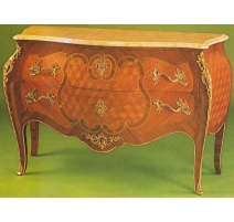 Commode style Louis XV ventrue en bois
