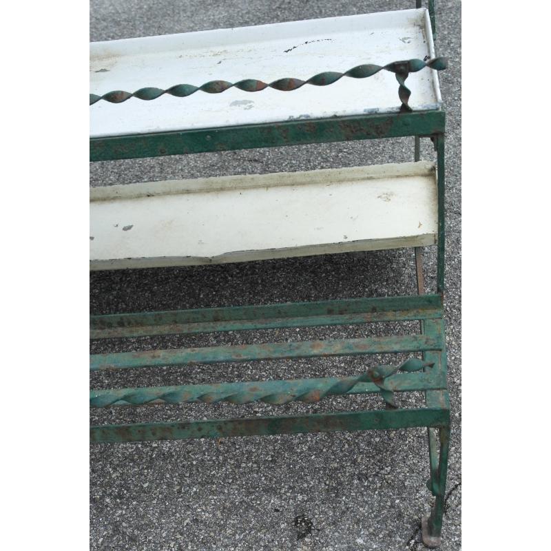 Jardini re porte plantes en fer forg sur moinat sa antiquit s d coration for Porte plante en fer forge