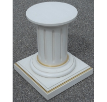 Column of Louis XVI style in wood turning,