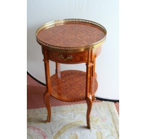 Bedside round Transition style wood