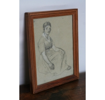 "Dessin au crayon ""Portrait en pied"