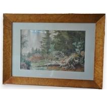 "Aquarelle ""Forêt"" de Suzanne EYNARD,"