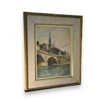 """Aquarelle """"La Sainte Chapelle"""" signée"""