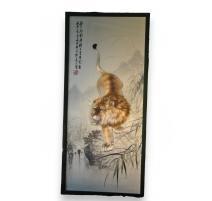 Tableau chinois en broderie Suzhou de
