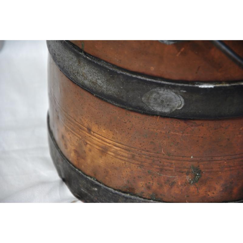 Seau charbon en cuivre et fer sur moinat sa antiquit s - Seau a charbon ...