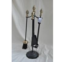Werkzeuge, kamin-gusseisen-schwarz und