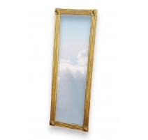 Miroir style Louis XVI cannelé avec