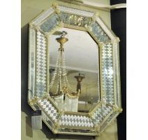 Miroir Vénitien en verre de Murano