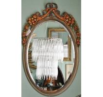 Miroir style Louis XVI glace biseautée,