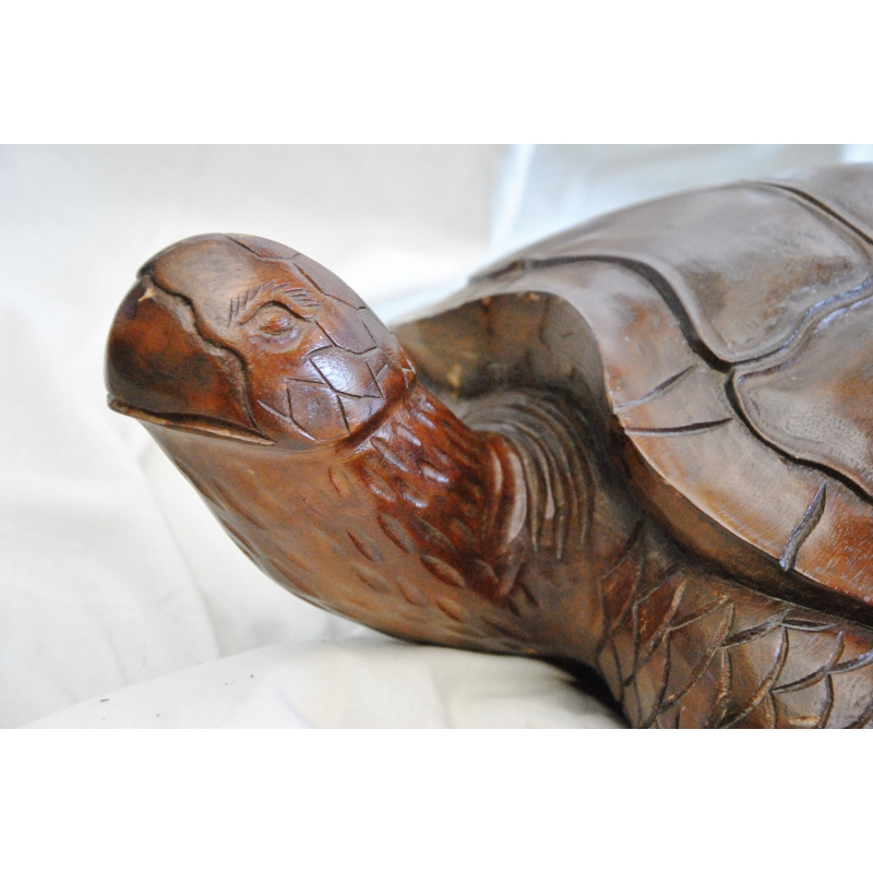tortue de mer en bois sculpt sur moinat sa antiquit s d coration. Black Bedroom Furniture Sets. Home Design Ideas