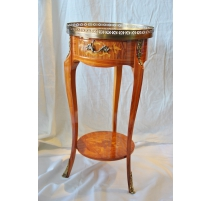 Bedside round style Louis XV 1 drawer,