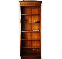 Library open round-mahogany
