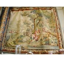 Tapestry AUBUSSON scene rustic