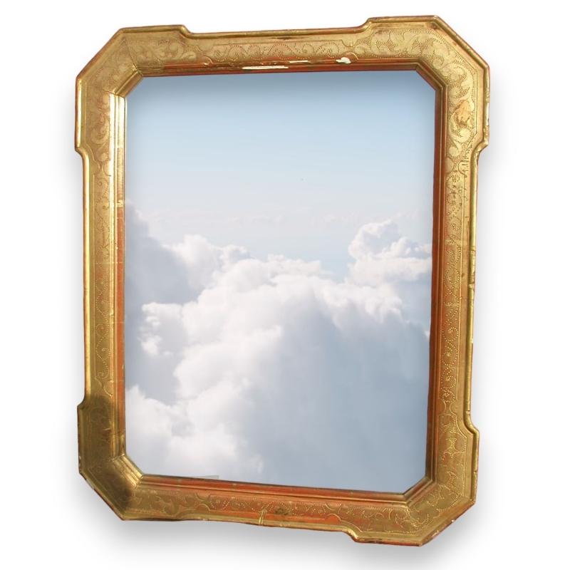 miroir avec cadre en bois dor sur moinat sa antiquit s d coration. Black Bedroom Furniture Sets. Home Design Ideas