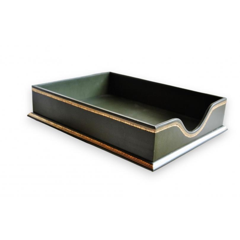 corbeille courrier malmaison en cuir sur moinat sa antiquit s d coration. Black Bedroom Furniture Sets. Home Design Ideas