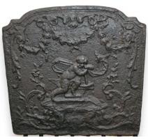 """Plaque de cheminée en fonte """"Chérubin"""