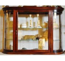 Showcase hanging mahogany glasses