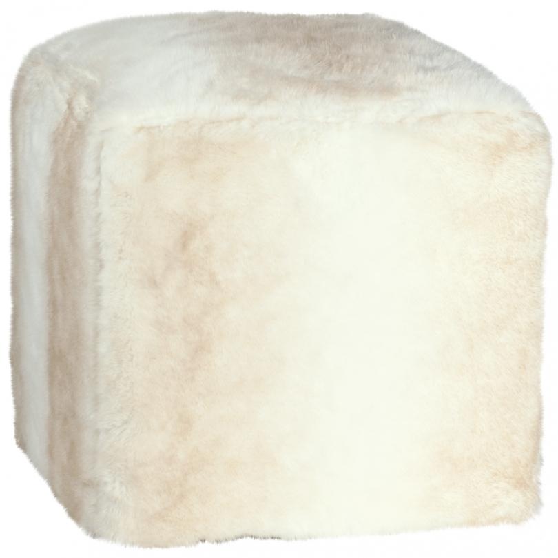Pouf cube en fausse fourrure polar sur moinat sa - Pouf fausse fourrure ...