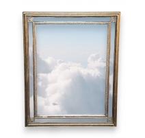 Miroir rectangulaire noir et doré