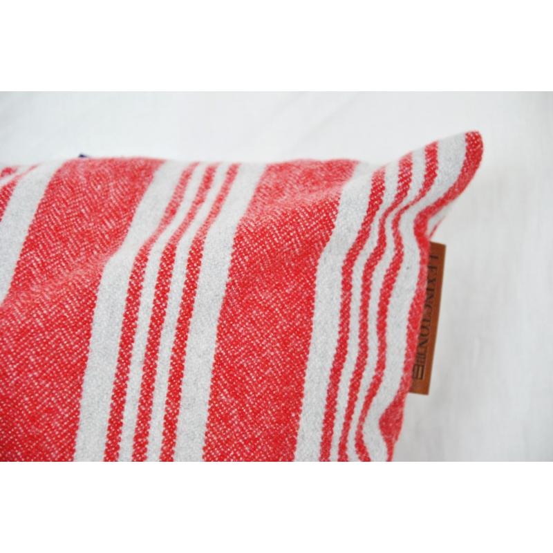 coussin ray rouge et gris lexington sur moinat sa antiquit s d coration. Black Bedroom Furniture Sets. Home Design Ideas