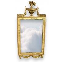 "Mirror Louis XVI with pediment ""Casserole""."