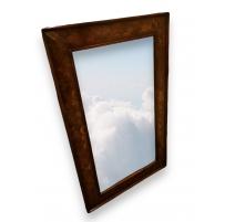 Miroir biseauté en verre églomisé,