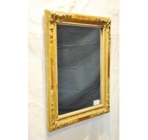 Miroir rectangulaire Napoléon III doré