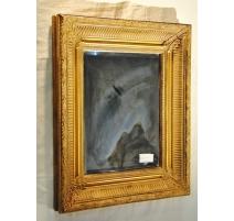 Miroir rectangulaire en bois doré