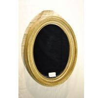 Miroir ovale en résine sculptée, laqué