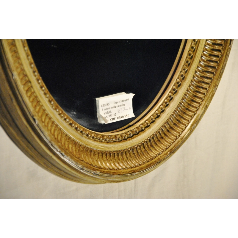 spiegel oval harz geschnitzt lackiert moinat sa. Black Bedroom Furniture Sets. Home Design Ideas