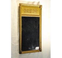 Miroir Empire en bois doré