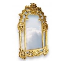Miroir style Louis XV en bois sculpté