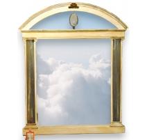 Miroir Néo-classique à colonnes en bois