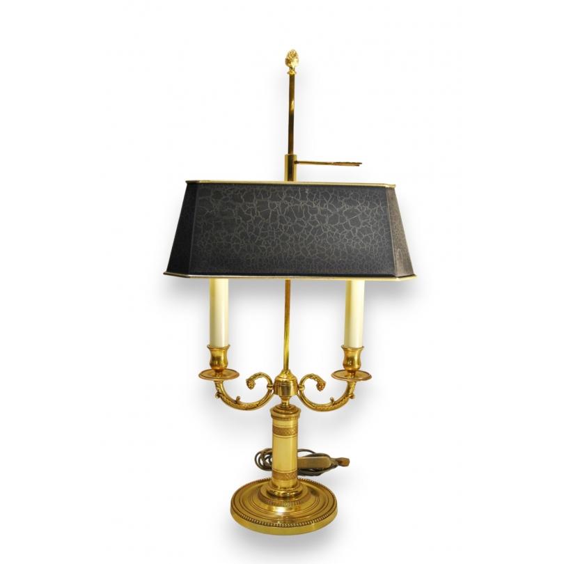 Lampe Bouillotte Style Empire A 2 Sur Moinat Sa Antiquites Decoration