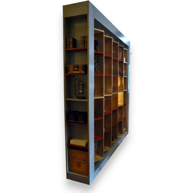biblioth que virevolte en bois laqu sur moinat sa antiquit s d coration. Black Bedroom Furniture Sets. Home Design Ideas