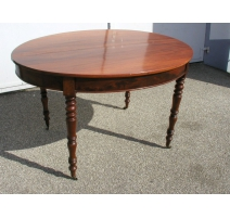 Oval dining table, with one 35