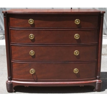 Dresser with 4 drawers, in mahogany.