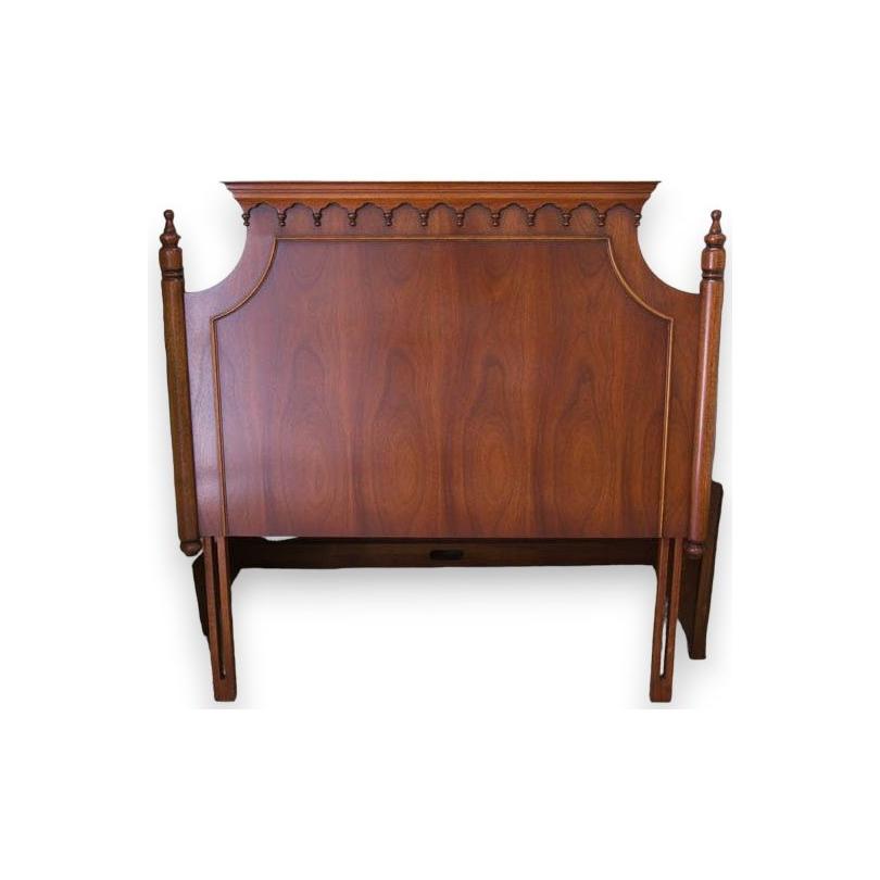 The head of the bed, Regency, mahogany.