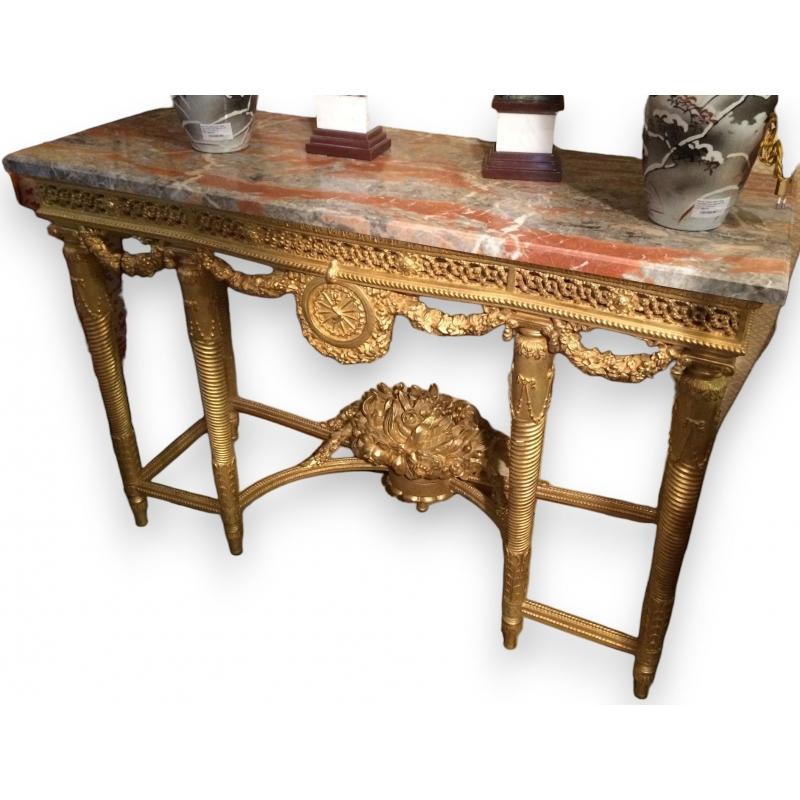 console style louis xvi versailles en sur moinat sa antiquit s d coration. Black Bedroom Furniture Sets. Home Design Ideas